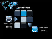 Bubble World Map PowerPoint Template#16