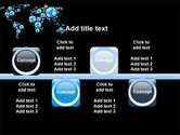 Bubble World Map PowerPoint Template#19