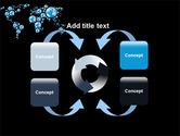 Bubble World Map PowerPoint Template#6
