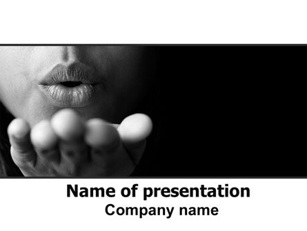 People: Blow A Kiss PowerPoint Template #07486