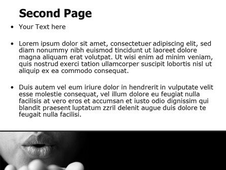 Blow A Kiss PowerPoint Template, Slide 2, 07486, People — PoweredTemplate.com