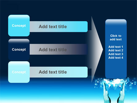 Teal World In Hands PowerPoint Template Slide 12