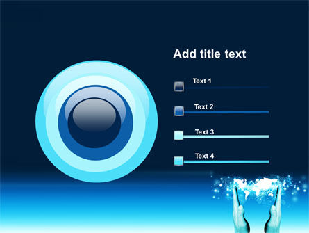 Teal World In Hands PowerPoint Template Slide 9