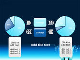 Teal World In Hands PowerPoint Template#11