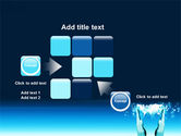 Teal World In Hands PowerPoint Template#16