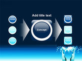 Teal World In Hands PowerPoint Template#17