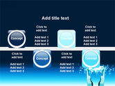 Teal World In Hands PowerPoint Template#19