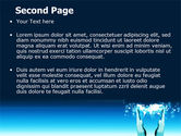 Teal World In Hands PowerPoint Template#2