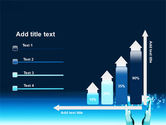 Teal World In Hands PowerPoint Template#8