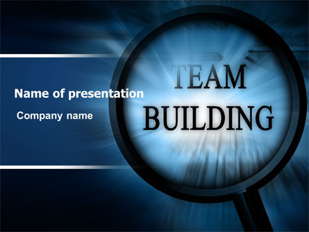 Team Building Theme In A Deep Blue Powerpoint Template Backgrounds