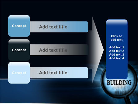 Team Building Theme In A Deep Blue PowerPoint Template Slide 12