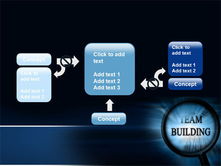 Team Building Theme In A Deep Blue PowerPoint Template Slide 13