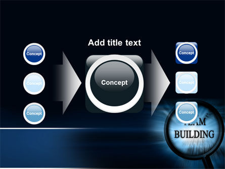 Team Building Theme In A Deep Blue PowerPoint Template Slide 17
