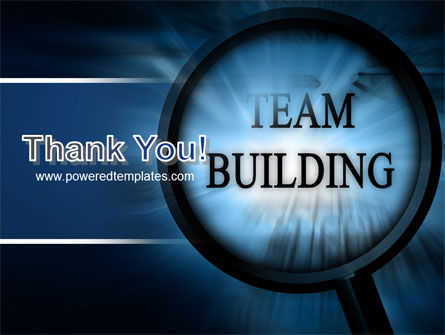 Team Building Theme In A Deep Blue PowerPoint Template Slide 20