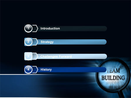 Team Building Theme In A Deep Blue PowerPoint Template Slide 3