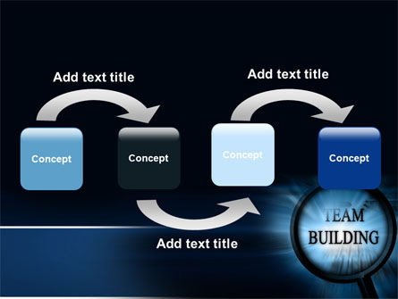 Team Building Theme In A Deep Blue PowerPoint Template Slide 4