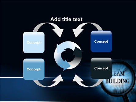 Team Building Theme In A Deep Blue PowerPoint Template Slide 6