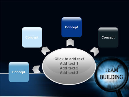 Team Building Theme In A Deep Blue PowerPoint Template Slide 7