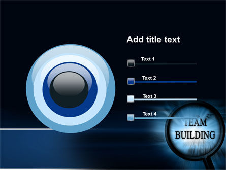 Team Building Theme In A Deep Blue PowerPoint Template Slide 9