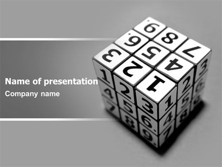 Digital Rubik PowerPoint Template