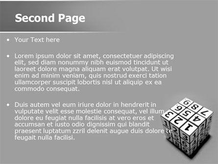 Digital Rubik PowerPoint Template Slide 2
