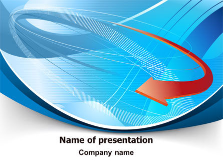 Business: Abstract Pointer Design PowerPoint Template #07490