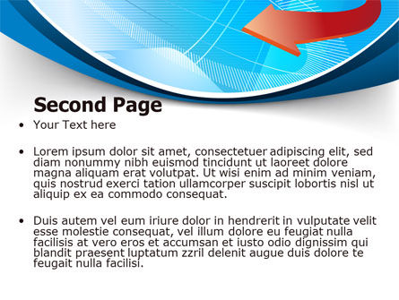Abstract Pointer Design PowerPoint Template Slide 2