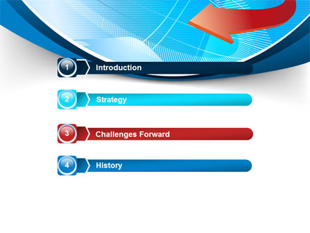 Abstract Pointer Design PowerPoint Template Slide 3