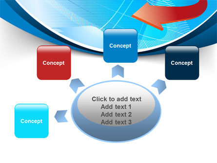 Abstract Pointer Design PowerPoint Template Slide 7