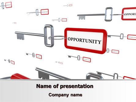 Key Opportunity PowerPoint Template, 07495, Consulting — PoweredTemplate.com