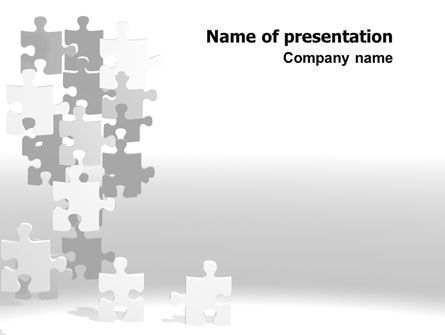 Tower Of Puzzle PowerPoint Template