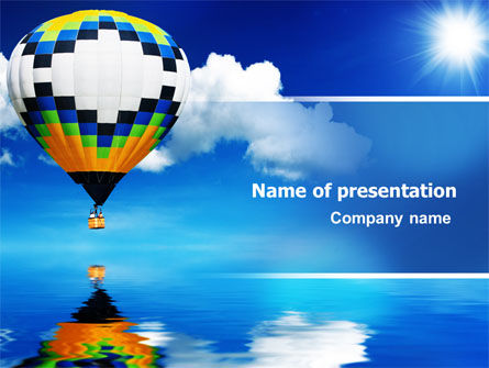 Business Concepts: Air Balloon PowerPoint Template #07498