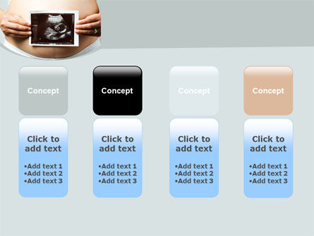 Ultrasound Portrait Of Baby PowerPoint Template Slide 5