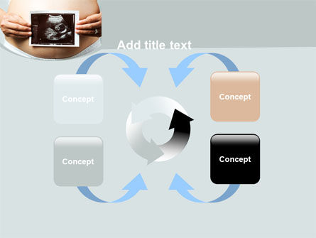 Ultrasound Portrait Of Baby PowerPoint Template Slide 6