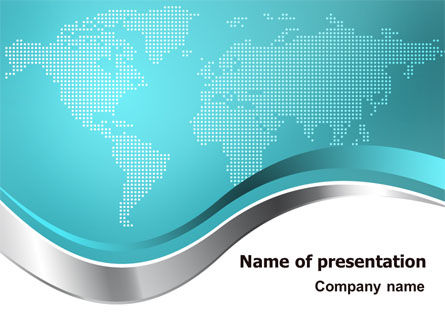 Global: Global Map PowerPoint Template #07503