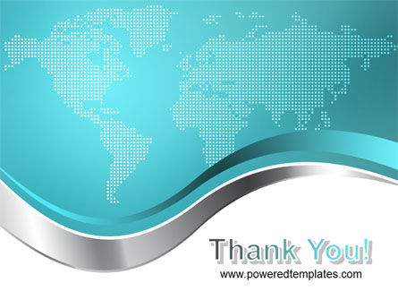 Global Map PowerPoint Template Slide 20
