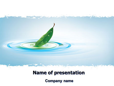Nature & Environment: Spring Leaf PowerPoint Template #07504