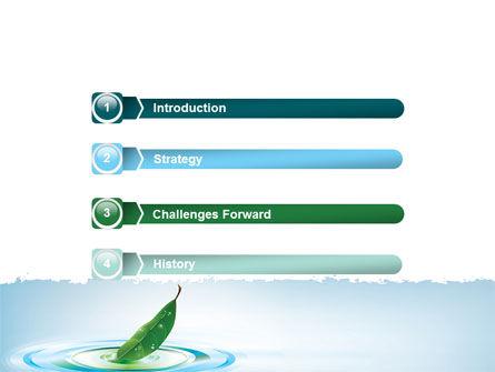 Spring Leaf PowerPoint Template, Slide 3, 07504, Nature & Environment — PoweredTemplate.com