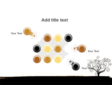 Silhouette Of Tree On The Yellow Background PowerPoint Template Slide 10