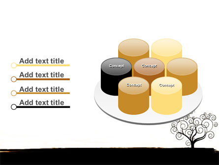 Silhouette Of Tree On The Yellow Background PowerPoint Template Slide 12