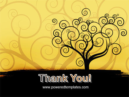 Silhouette Of Tree On The Yellow Background PowerPoint Template Slide 20