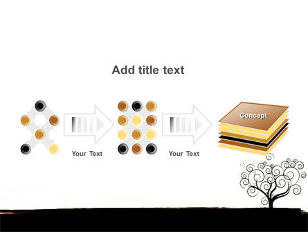 Silhouette Of Tree On The Yellow Background PowerPoint Template Slide 9