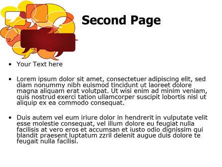 Speech Balloons PowerPoint Template, Slide 2, 07509, Telecommunication — PoweredTemplate.com