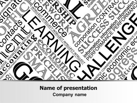 Business Terms PowerPoint Template, 07510, Education & Training — PoweredTemplate.com