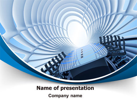 Conference Auditorium PowerPoint Template, 07515, Business — PoweredTemplate.com
