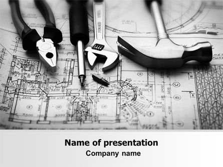 Utilities/Industrial: Tools and Draft PowerPoint Template #07516