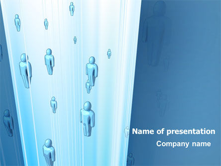 Blue People Abstract Free PowerPoint Template, 07518, Technology and Science — PoweredTemplate.com