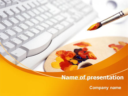Art & Entertainment: Computer Palette PowerPoint Template #07520