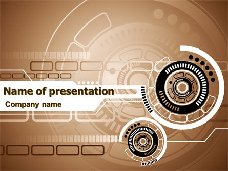 Technology and Science: Brown Cirkel PowerPoint Template #07521