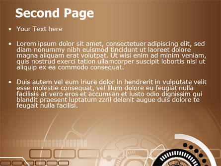 Brown Circle PowerPoint Template Slide 2